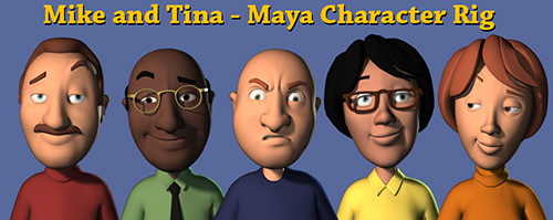 CGTalk | Mike and Tina (Free Maya Character Rig)
